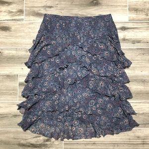 Marc Jacob Silk Layered Floral Skirt